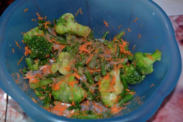 овощи с рыбой и специями