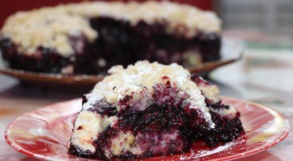 песочный пирог с ягодным жмыхом