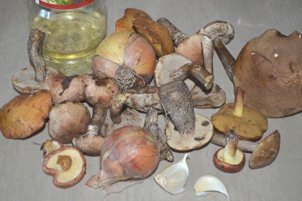 ингредиенты для икры из грибов