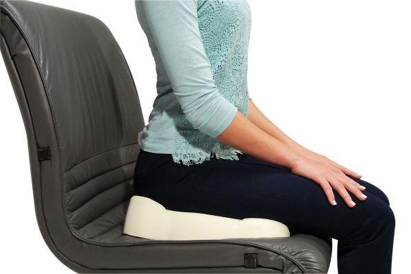 использование подушки для сидения