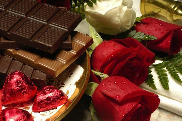 конфеты и розы