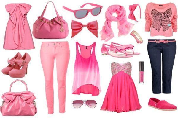 одежда в розовых тонах