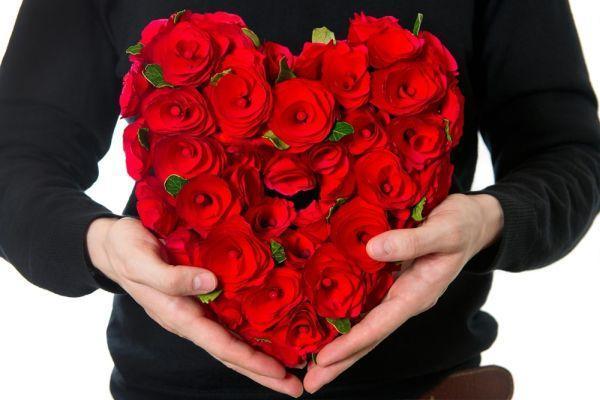 букет в форме сердца