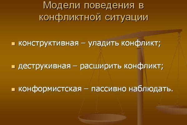 модели поведения