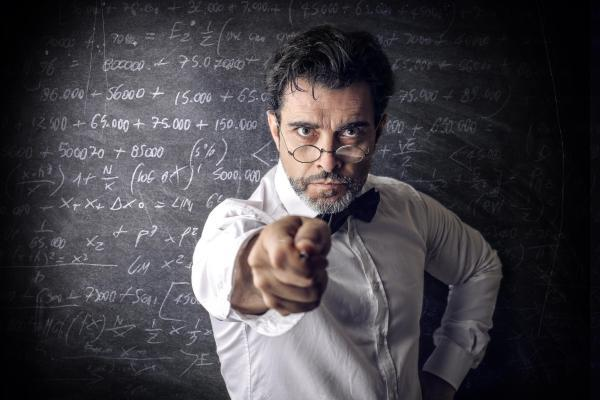 строгий преподаватель