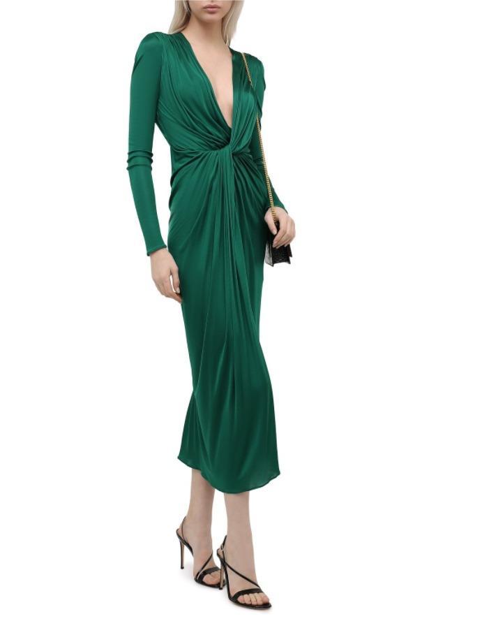 Платье DOLCE & GABBANA зеленое