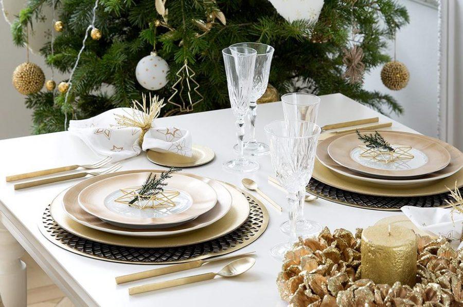 декор стола на новый год